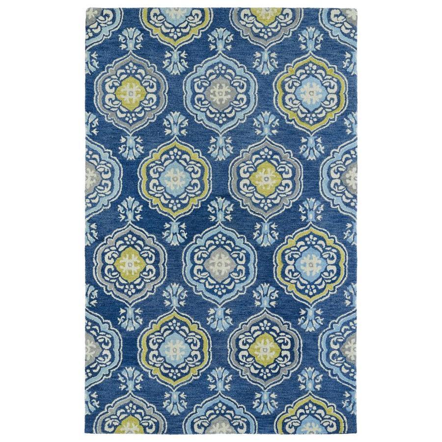 Kaleen Helena Blue Rectangular Indoor Handcrafted Oriental Area Rug (Common: 8 x 10; Actual: 8-ft W x 10-ft L)