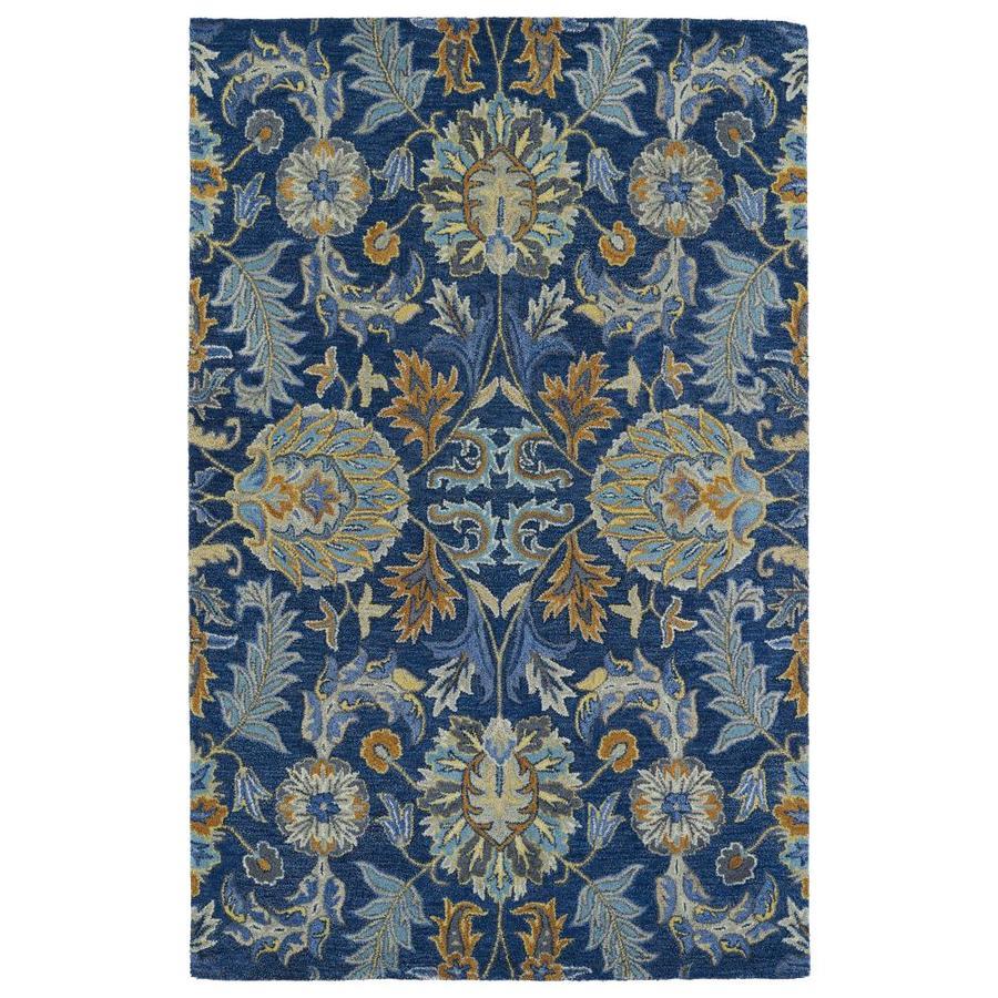 Kaleen Helena Blue Rectangular Indoor Handcrafted Oriental Area Rug (Common: 10 x 14; Actual: 10-ft W x 14-ft L)