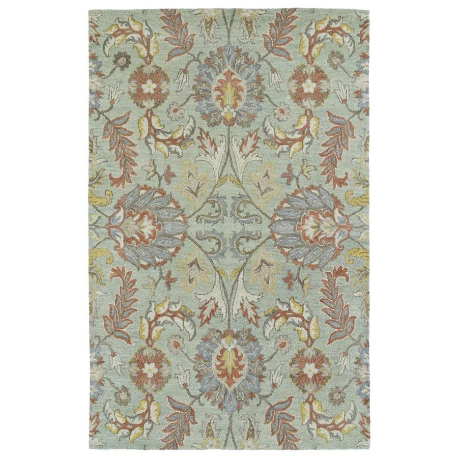 Kaleen Helena Mint Indoor Handcrafted Oriental Area Rug (Common: 5 x 8; Actual: 5-ft W x 7.75-ft L)