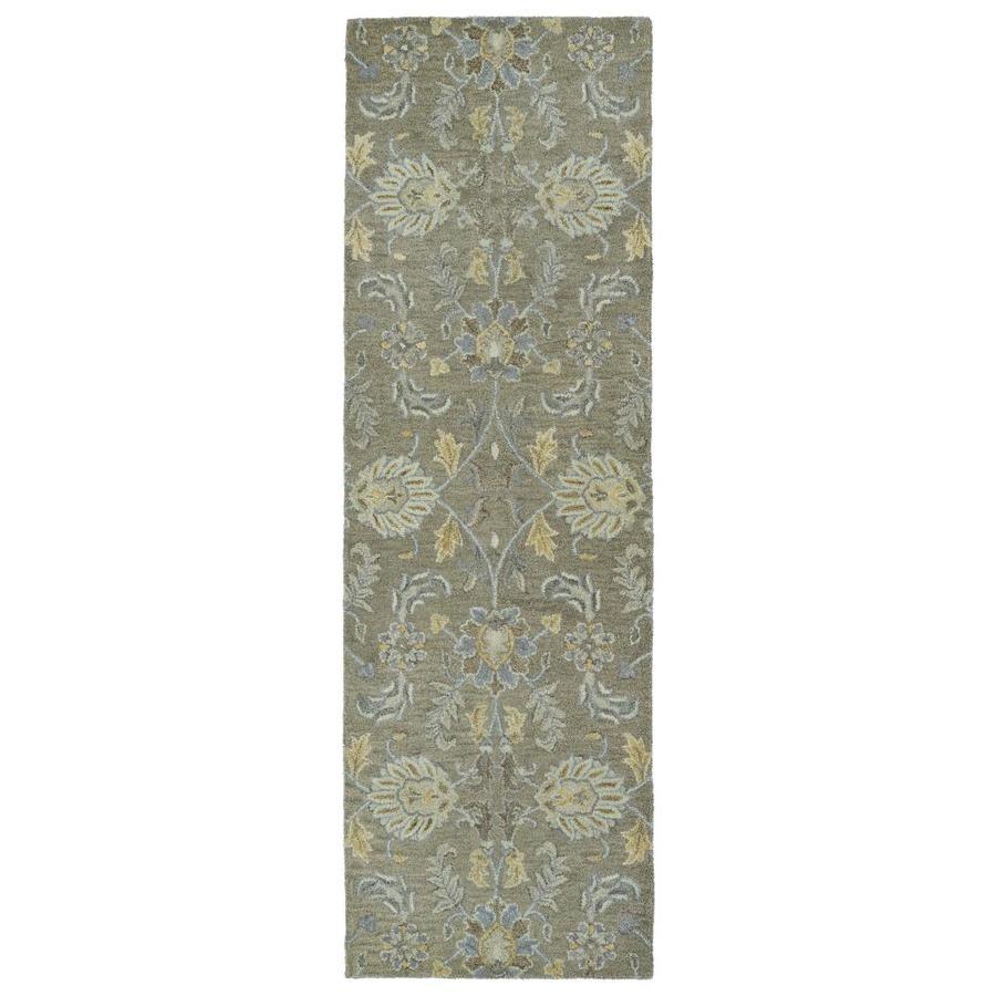 Kaleen Helena Sage Rectangular Indoor Handcrafted Oriental Runner (Common: 2 x 8; Actual: 2.5-ft W x 8-ft L)