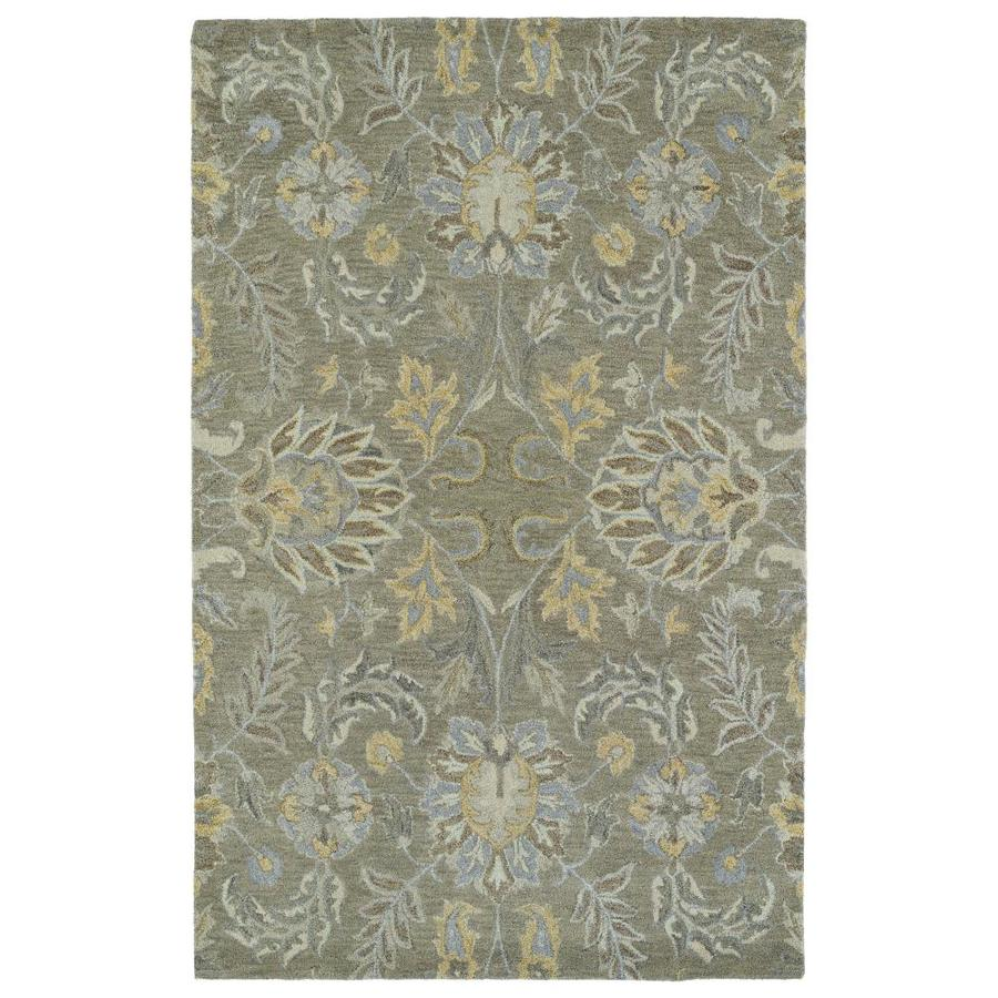 Kaleen Helena Sage Rectangular Indoor Handcrafted Oriental Area Rug (Common: 8 x 10; Actual: 8-ft W x 10-ft L)