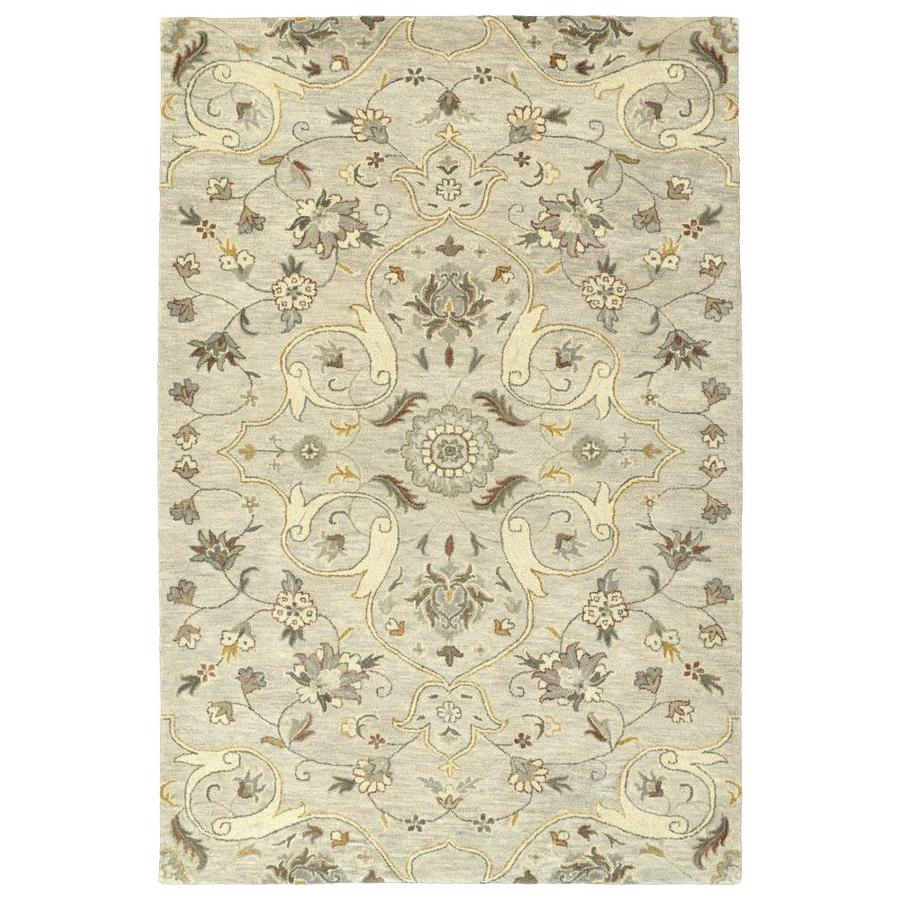 Kaleen Helena Mushroom Indoor Handcrafted Oriental Area Rug (Common: 9 x 12; Actual: 9-ft W x 12-ft L)