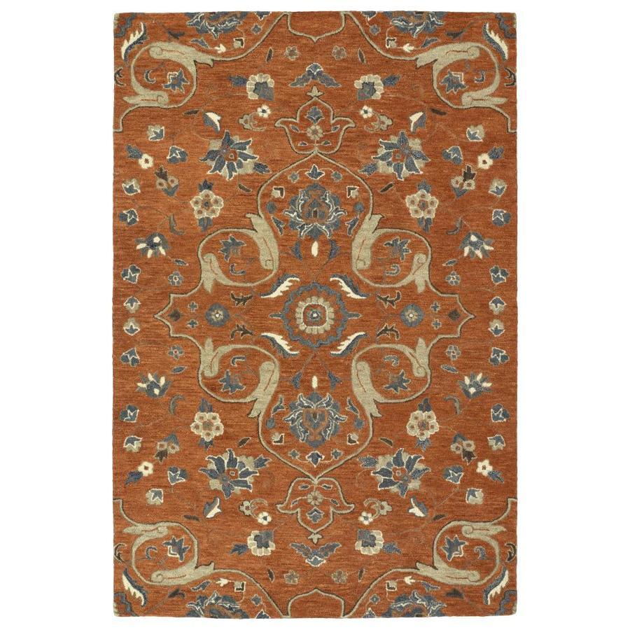 Kaleen Helena Paprika Indoor Handcrafted Oriental Area Rug (Common: 4 x 6; Actual: 4-ft W x 6-ft L)