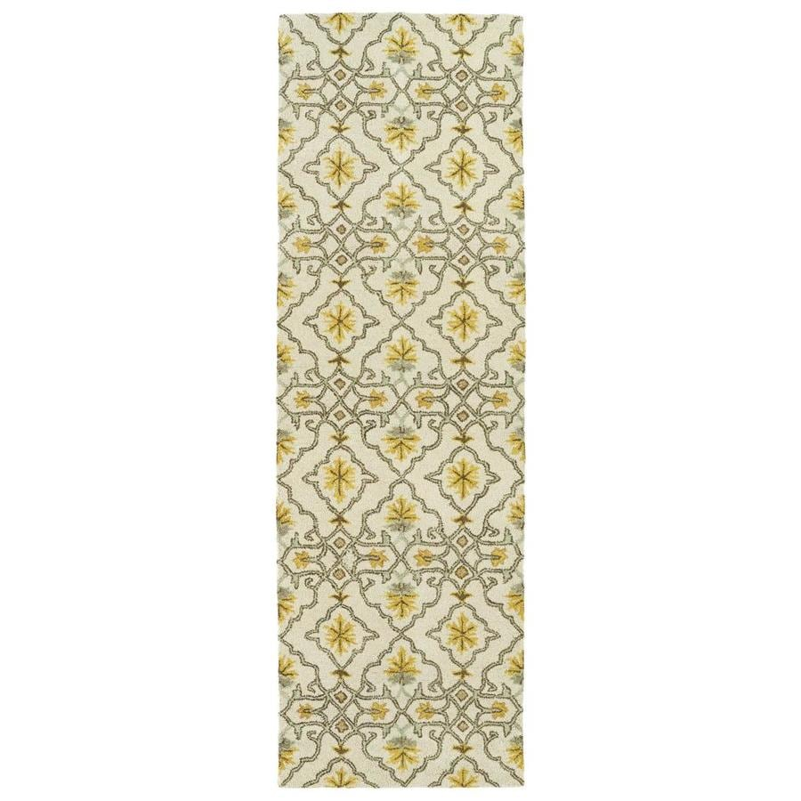Kaleen Helena Beige 2-ft6-in x 8-ft Runner
