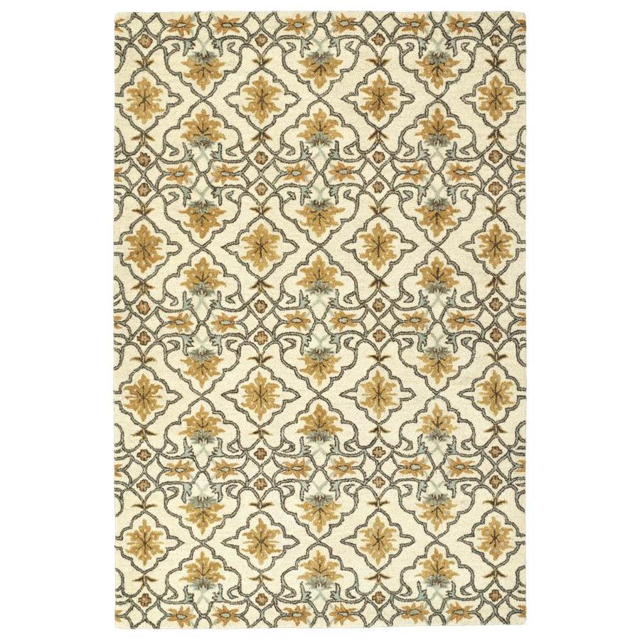 Kaleen Helena Beige Indoor Handcrafted Oriental Area Rug (Common: 5 x 8; Actual: 5-ft W x 7.75-ft L)