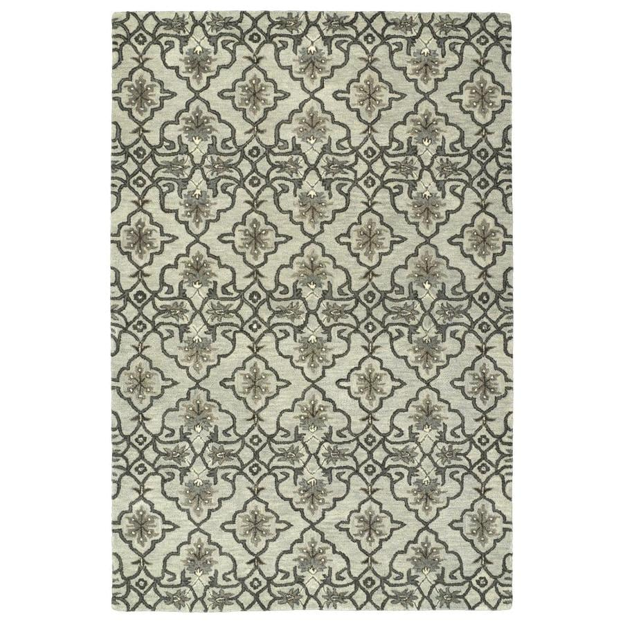 Kaleen Helena Mint Indoor Handcrafted Oriental Area Rug (Common: 5 x 8; Actual: 5-ft W x 7.75-ft L)