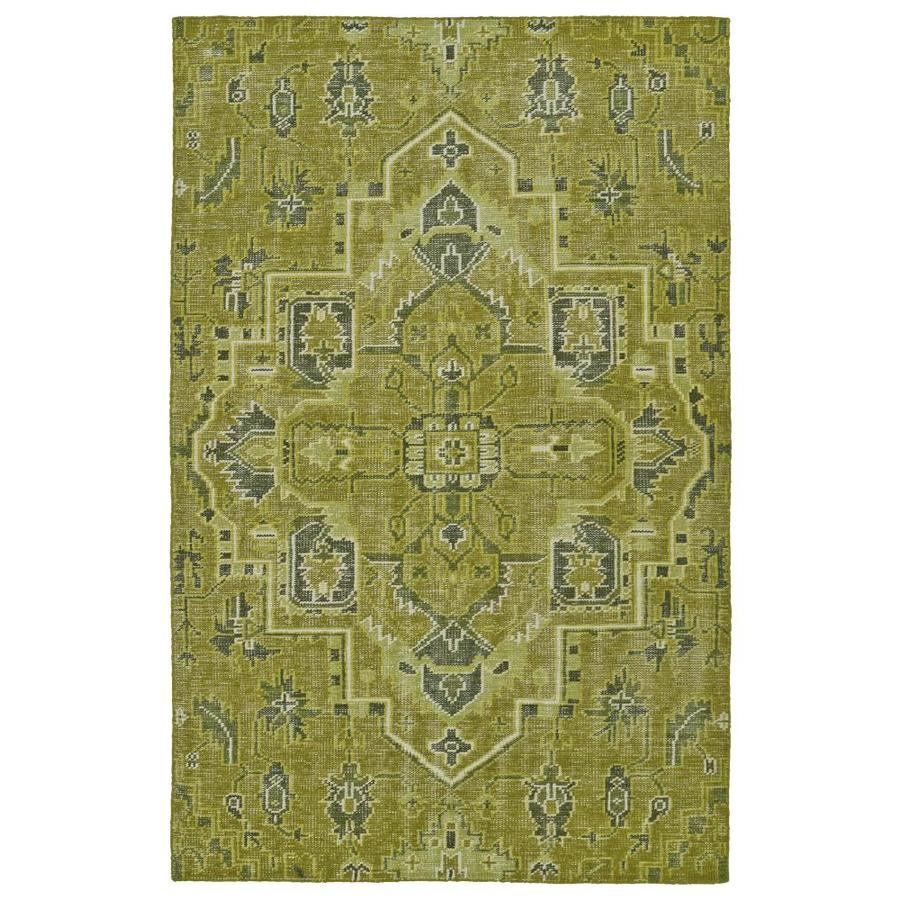 Kaleen Relic Avocado Indoor Handcrafted Southwestern Area Rug (Common: 6 x 9; Actual: 5.5-ft W x 8.5-ft L)