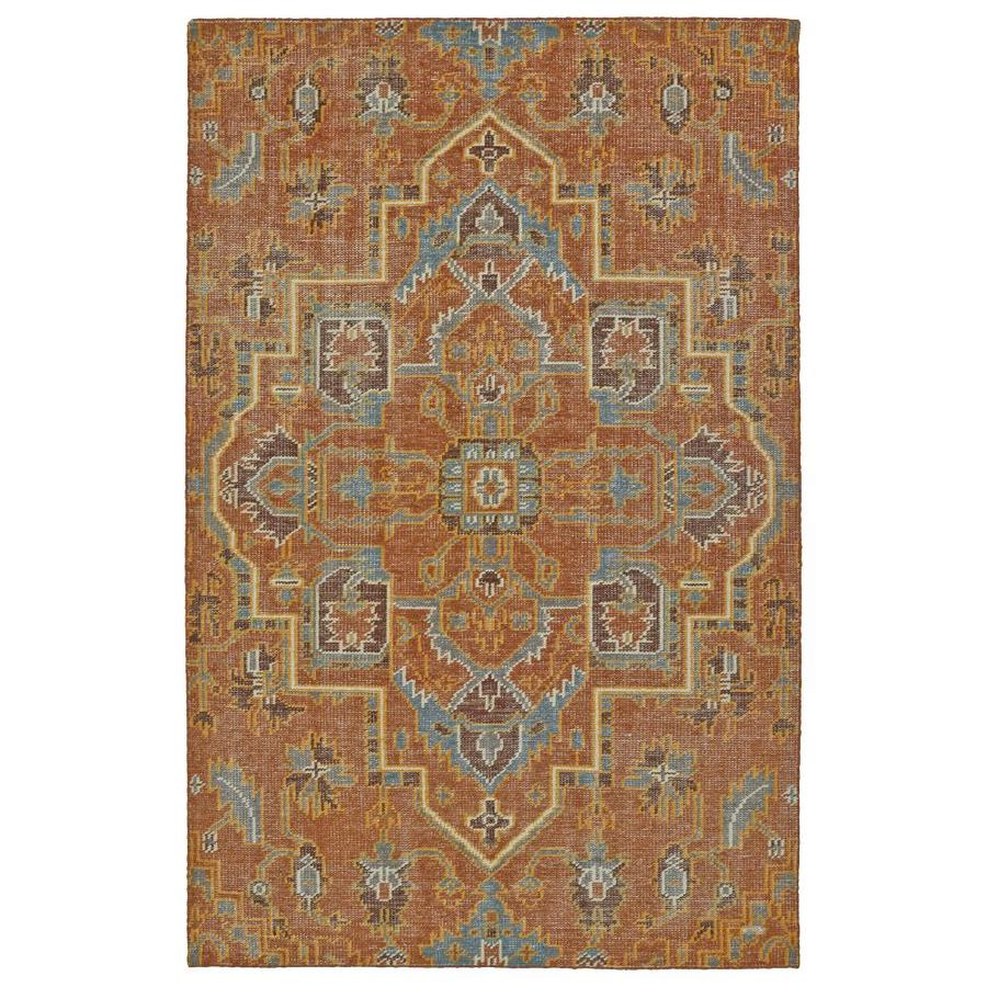 Kaleen Relic Paprika Indoor Handcrafted Southwestern Area Rug (Common: 6 x 9; Actual: 5.5-ft W x 8.5-ft L)