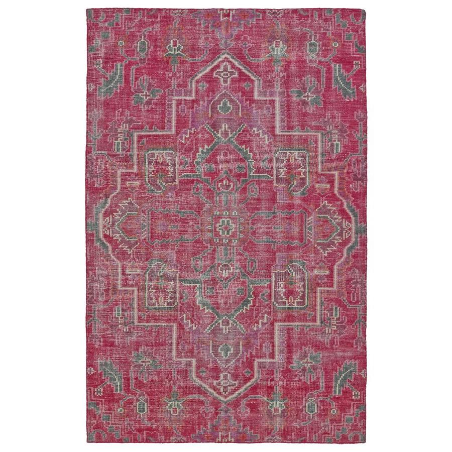 Kaleen Relic Pink Rectangular Indoor Handcrafted Southwestern Area Rug (Common: 4 x 6; Actual: 4-ft W x 6-ft L)