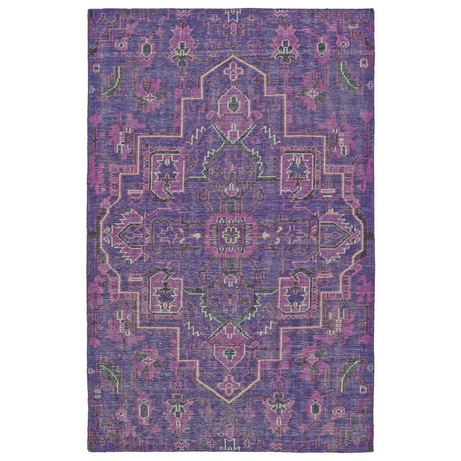 Kaleen Relic Purple Indoor Handcrafted Southwestern Area Rug (Common: 4 x 6; Actual: 4-ft W x 6-ft L)