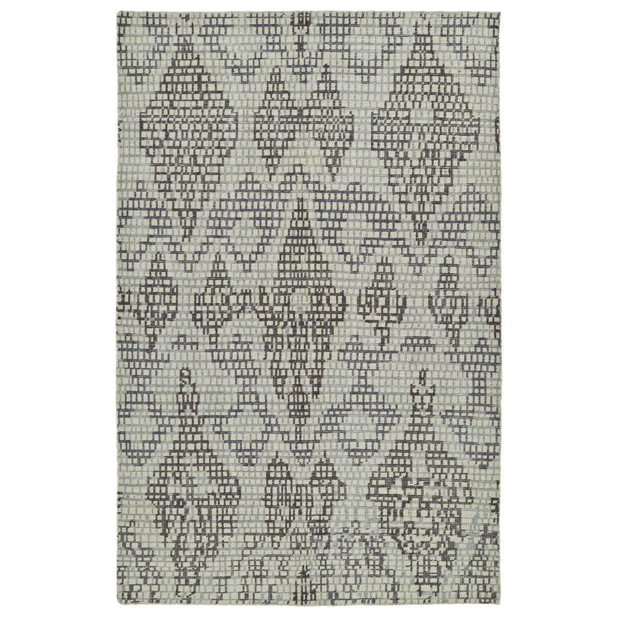 Kaleen Relic Charcoal Rectangular Indoor Handcrafted Southwestern Area Rug (Common: 4 x 6; Actual: 4-ft W x 6-ft L)