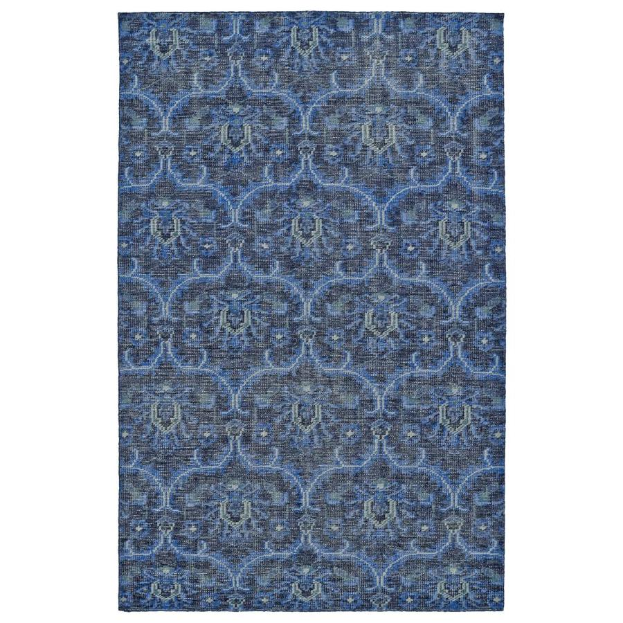 Kaleen Relic Blue Rectangular Indoor Handcrafted Southwestern Area Rug (Common: 4 x 6; Actual: 4-ft W x 6-ft L)