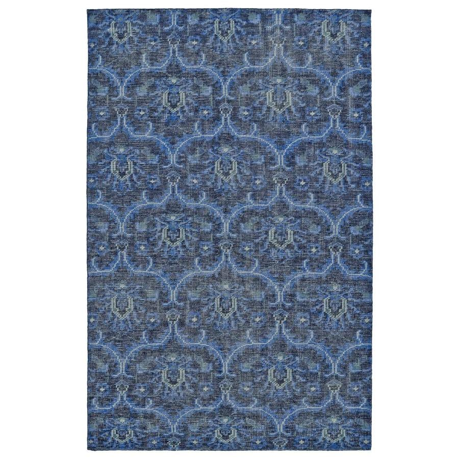 Kaleen Relic Blue Rectangular Indoor Handcrafted Southwestern Area Rug (Common: 9 x 12; Actual: 9-ft W x 12-ft L)