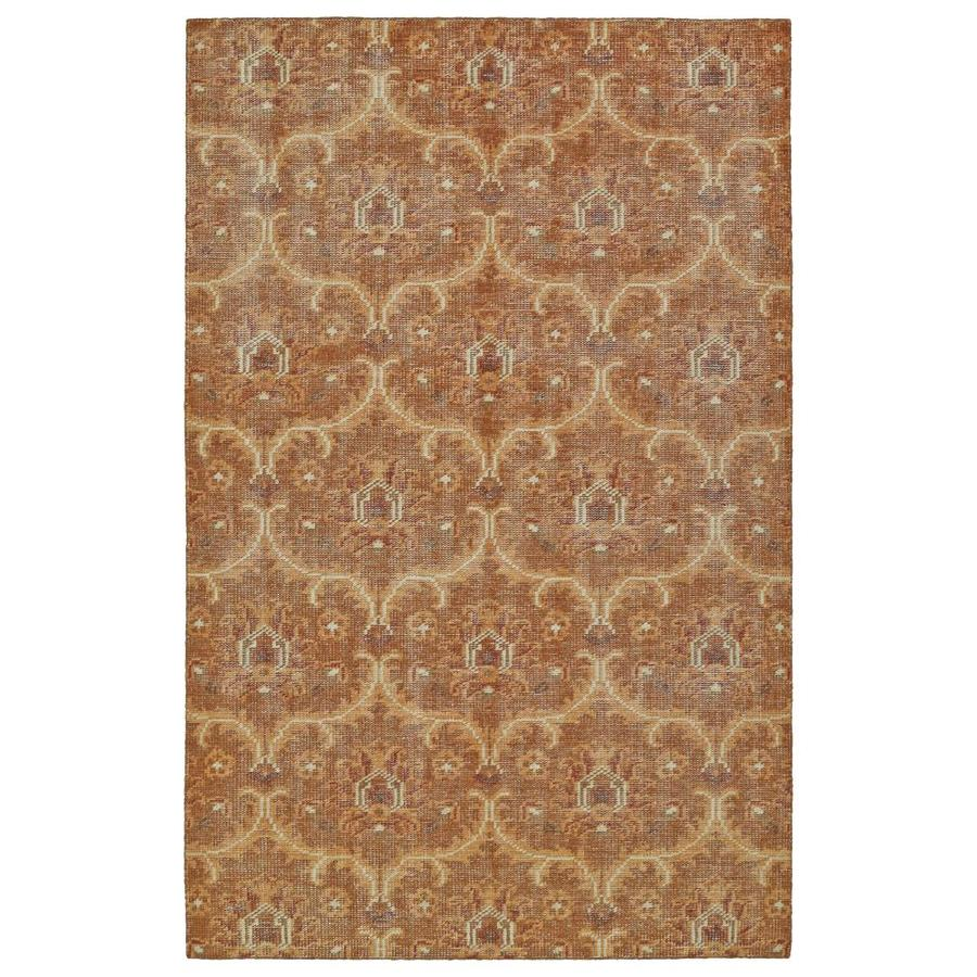 Kaleen Relic Paprika Indoor Handcrafted Southwestern Area Rug (Common: 4 x 6; Actual: 4-ft W x 6-ft L)