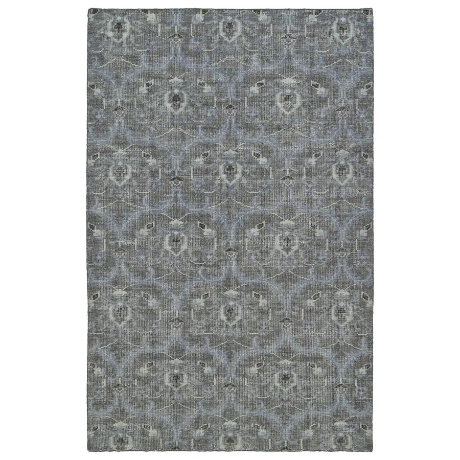 Kaleen Relic Graphite Indoor Handcrafted Southwestern Throw Rug (Common: 2 x 3; Actual: 2-ft W x 3-ft L)