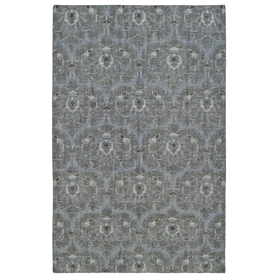 Kaleen Relic Graphite Rectangular Indoor Handcrafted Southwestern Area Rug (Common: 4 x 6; Actual: 4-ft W x 6-ft L)