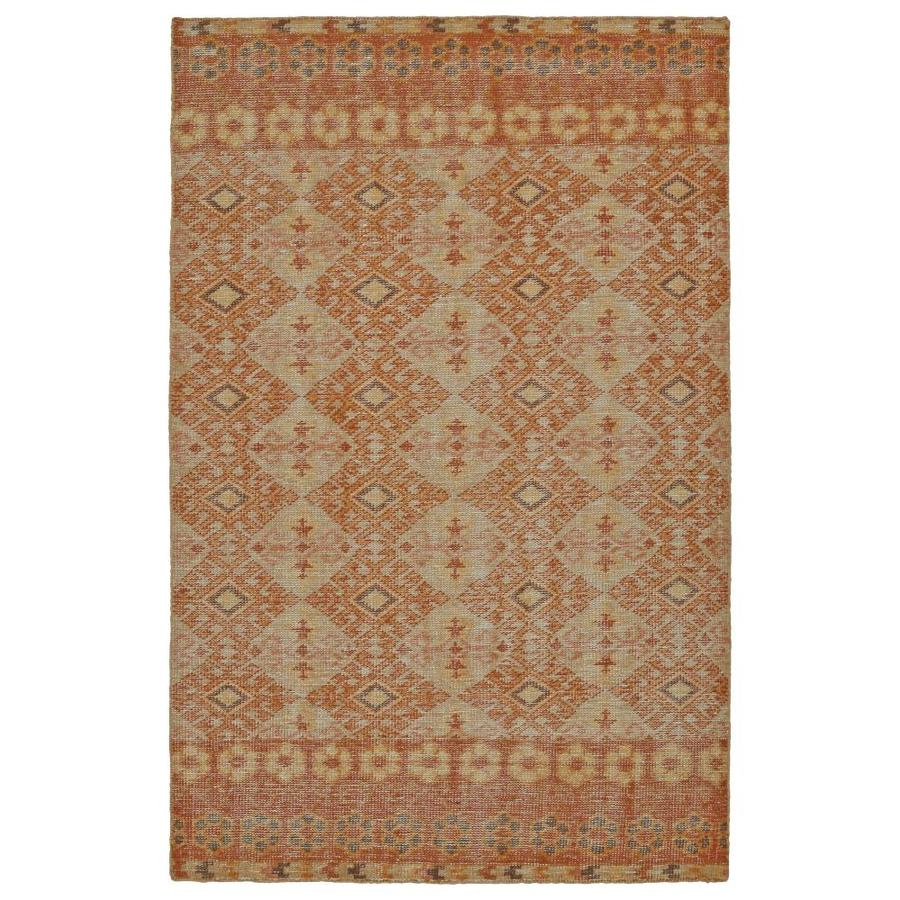 Kaleen Relic Orange Indoor Handcrafted Southwestern Area Rug (Common: 9 x 12; Actual: 9-ft W x 12-ft L)