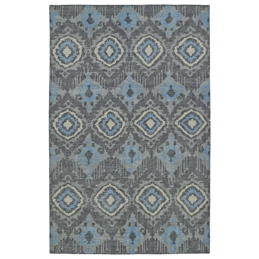 Kaleen Relic Charcoal Rectangular Indoor Handcrafted Southwestern Area Rug (Common: 6 x 9; Actual: 5.5-ft W x 8.5-ft L)