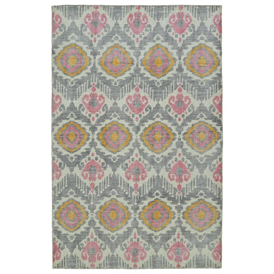 Kaleen Relic Grey Indoor Handcrafted Southwestern Area Rug (Common: 6 x 9; Actual: 5.5-ft W x 8.5-ft L)