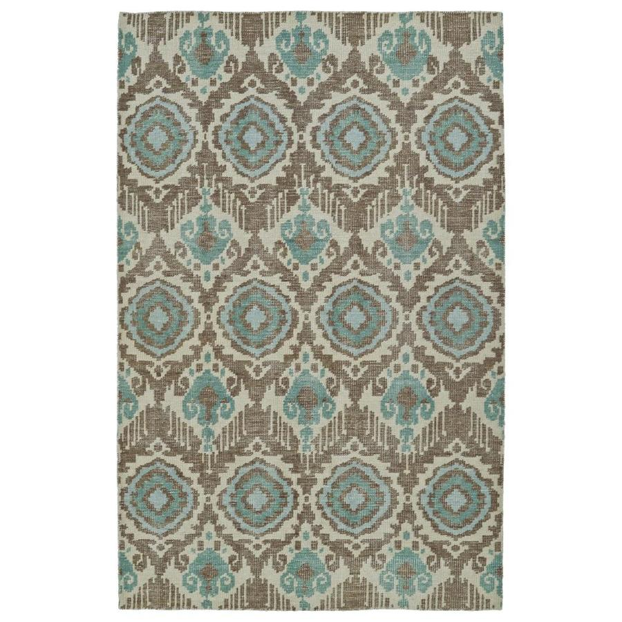 Kaleen Relic Light Brown Indoor Handcrafted Southwestern Throw Rug (Common: 2 x 3; Actual: 2-ft W x 3-ft L)