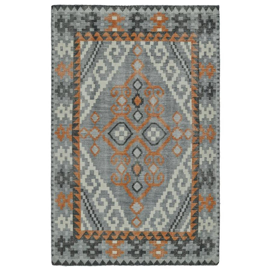Kaleen Relic Grey Indoor Handcrafted Southwestern Area Rug (Common: 4 x 6; Actual: 4-ft W x 6-ft L)