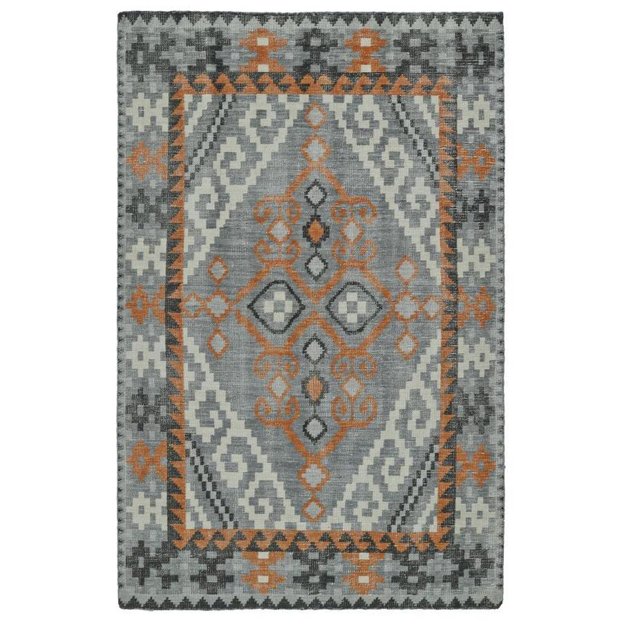 Kaleen Relic Grey Rectangular Indoor Handcrafted Southwestern Area Rug (Common: 9 x 12; Actual: 9-ft W x 12-ft L)