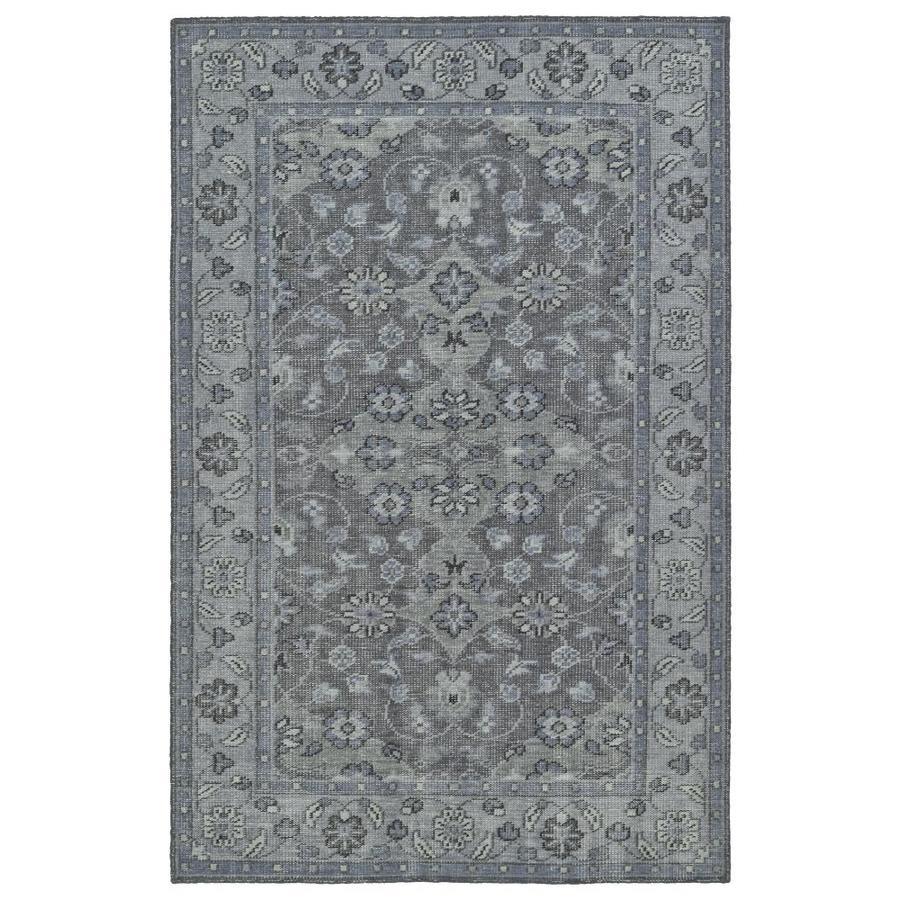Kaleen Relic Grey Rectangular Indoor Handcrafted Southwestern Area Rug (Common: 6 x 9; Actual: 5.5-ft W x 8.5-ft L)