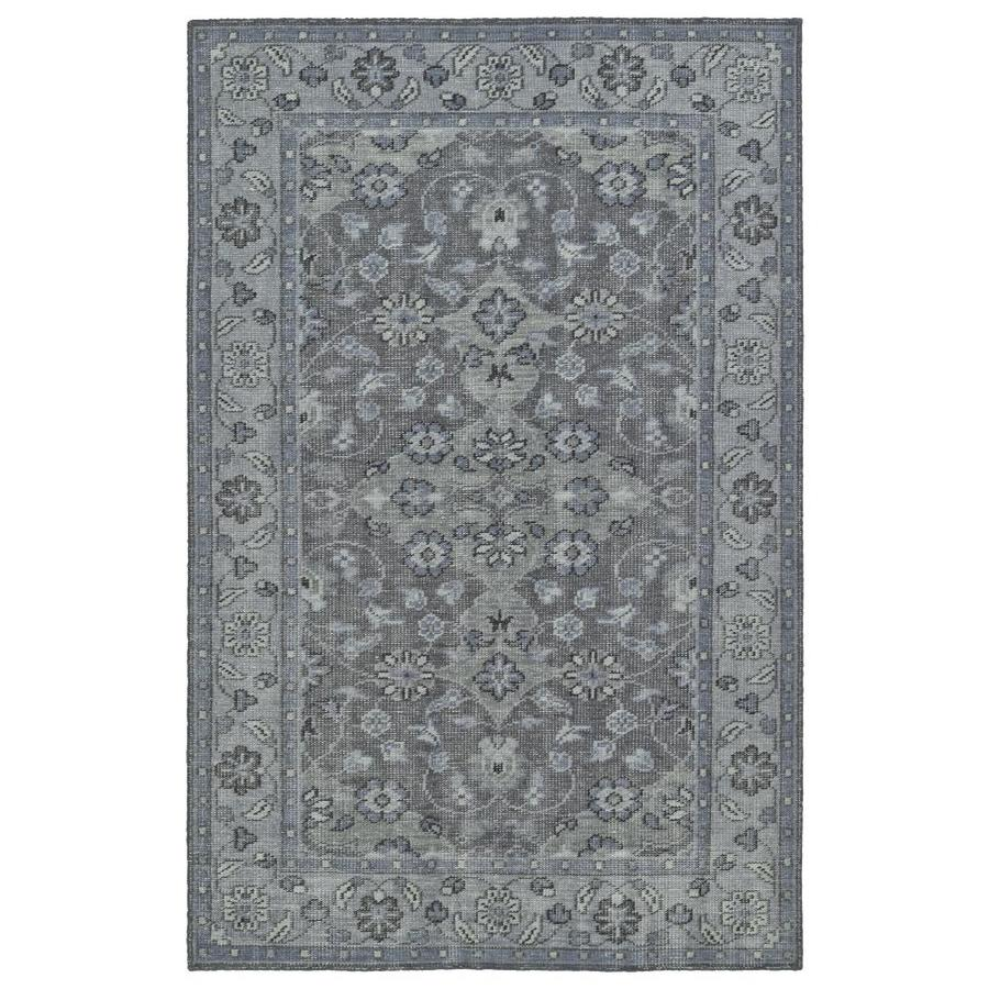 Kaleen Relic Grey Indoor Handcrafted Southwestern Area Rug (Common: 9 x 12; Actual: 9-ft W x 12-ft L)