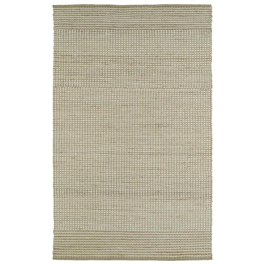 Kaleen Colinas Ivory Indoor Handcrafted Nature Throw Rug (Common: 3 x 5; Actual: 3-ft W x 5-ft L)