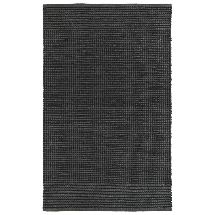 Kaleen Colinas Charcoal Indoor Handcrafted Nature Throw Rug (Common: 3 x 5; Actual: 3-ft W x 5-ft L)