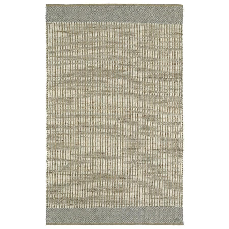 Kaleen Colinas Ivory Rectangular Indoor Handcrafted Nature Throw Rug (Common: 2 x 3; Actual: 1.9-ft W x 2.1-ft L)