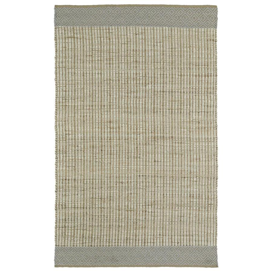 Kaleen Colinas Ivory Rectangular Indoor Handcrafted Nature Throw Rug (Common: 3 x 5; Actual: 3-ft W x 5-ft L)