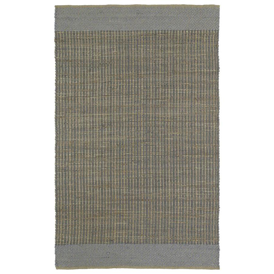 Kaleen Colinas Slate Rectangular Indoor Handcrafted Nature Throw Rug (Common: 2 x 3; Actual: 1.9-ft W x 2.1-ft L)