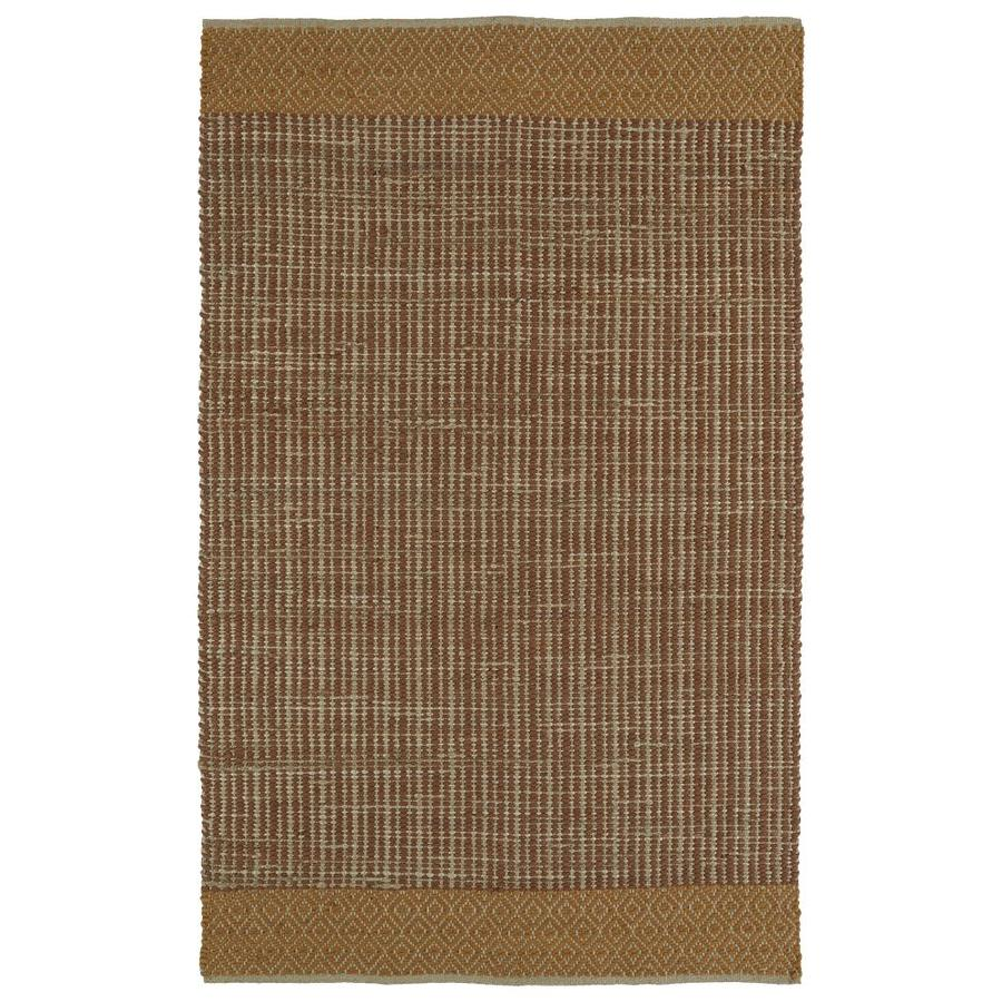 Kaleen Colinas Paprika Indoor Handcrafted Nature Throw Rug (Common: 3 x 5; Actual: 3-ft W x 5-ft L)