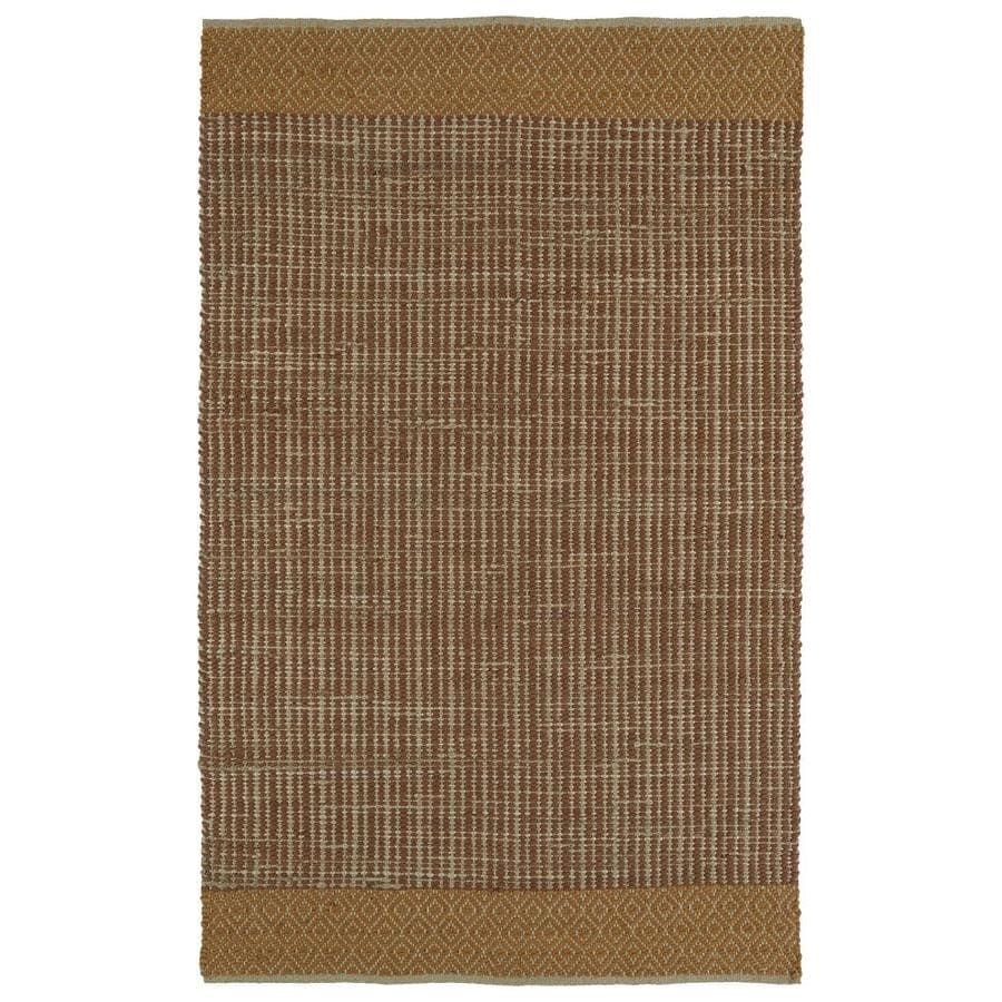 Kaleen Colinas Paprika Indoor Handcrafted Nature Area Rug (Common: 5 x 8; Actual: 5-ft W x 7.5-ft L)