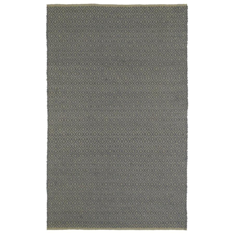 Kaleen Colinas Slate Rectangular Indoor Handcrafted Nature Throw Rug (Common: 3 x 5; Actual: 3-ft W x 5-ft L)