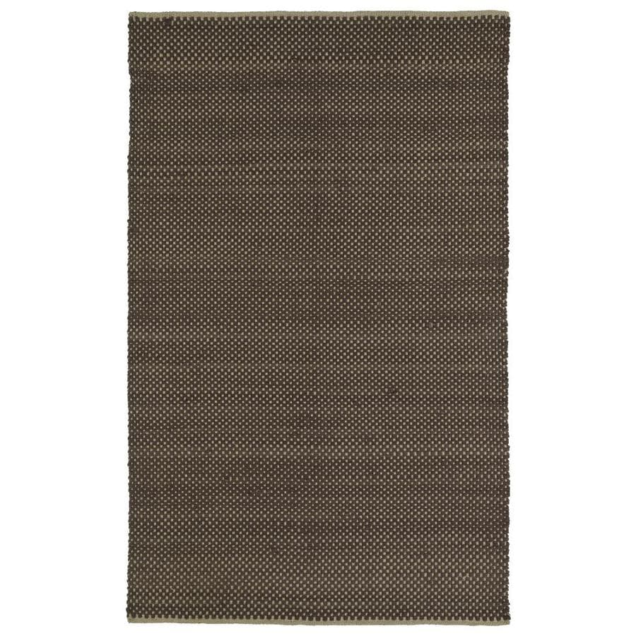 Kaleen Colinas Chocolate Rectangular Indoor Handcrafted Nature Area Rug (Common: 8 x 10; Actual: 8-ft W x 10-ft L)