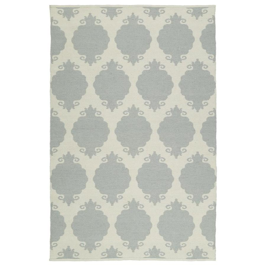 Kaleen Brisa Grey Indoor/Outdoor Handcrafted Coastal Throw Rug (Common: 3 x 5; Actual: 3-ft W x 5-ft L)