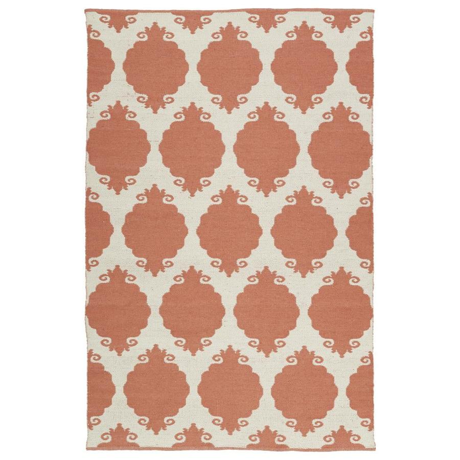 Kaleen Brisa Salmon Indoor/Outdoor Handcrafted Coastal Throw Rug (Common: 3 x 5; Actual: 3-ft W x 5-ft L)