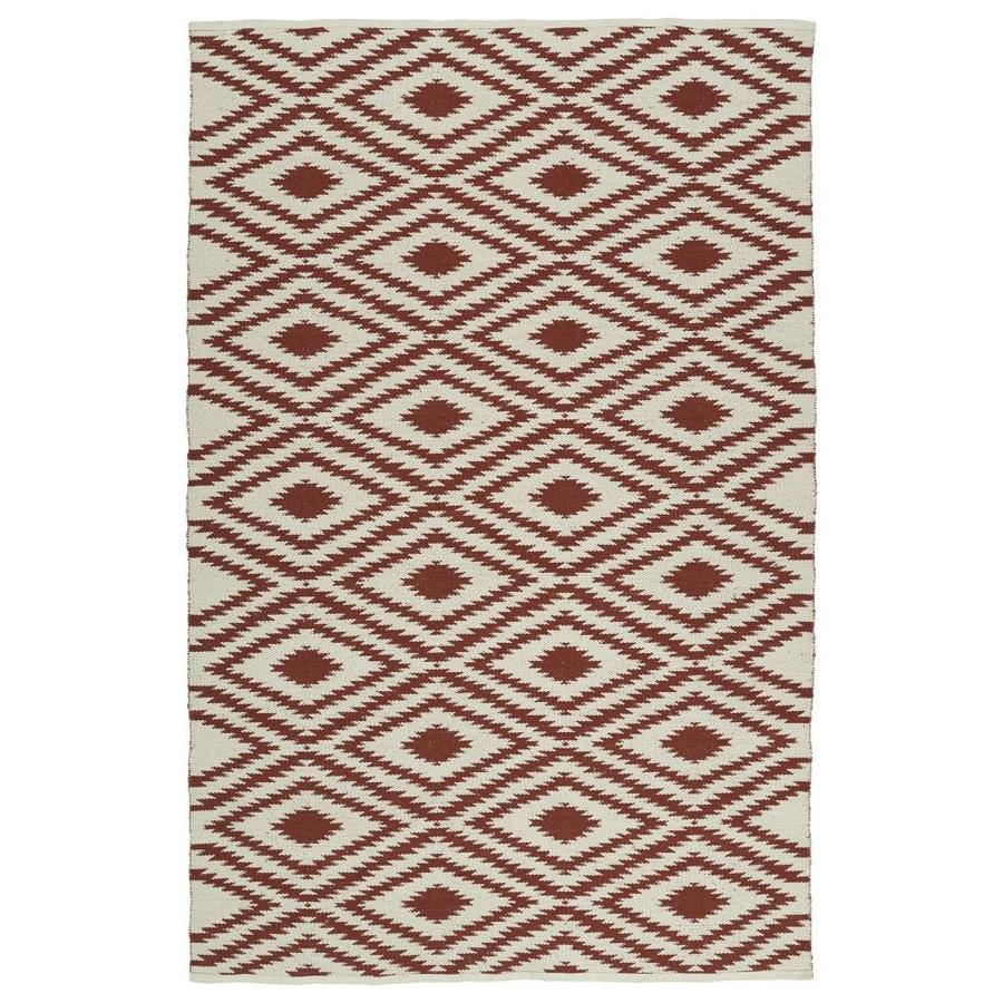 Kaleen Brisa Brick Indoor/Outdoor Handcrafted Coastal Throw Rug (Common: 3 x 5; Actual: 3-ft W x 5-ft L)