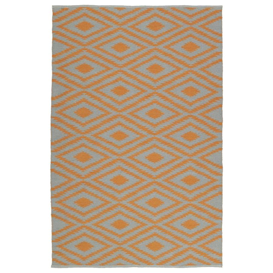 Kaleen Brisa Orange Indoor/Outdoor Handcrafted Coastal Throw Rug (Common: 3 x 5; Actual: 3-ft W x 5-ft L)