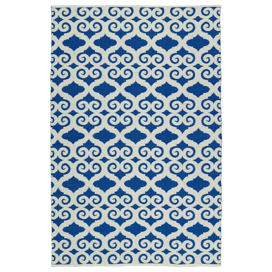 Kaleen Brisa Navy Rectangular Indoor/Outdoor Handcrafted Coastal Area Rug (Common: 5 x 8; Actual: 5-ft W x 7.5-ft L)