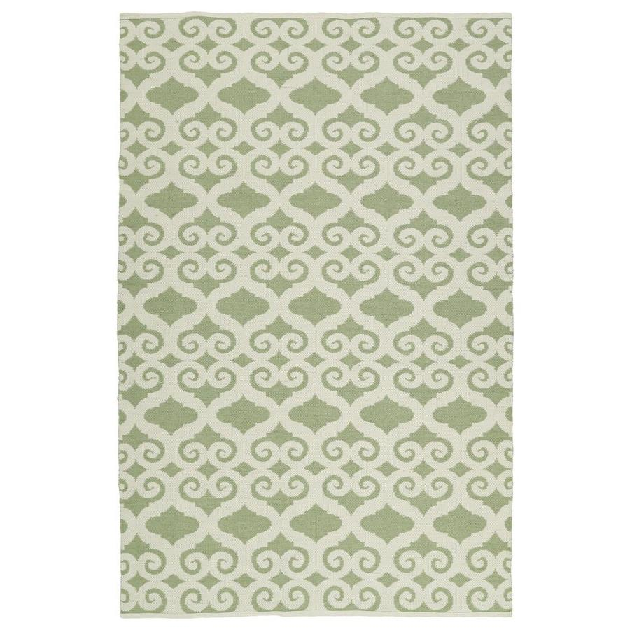 Kaleen Brisa Green Rectangular Indoor/Outdoor Handcrafted Coastal Area Rug (Common: 5 x 8; Actual: 5-ft W x 7.5-ft L)