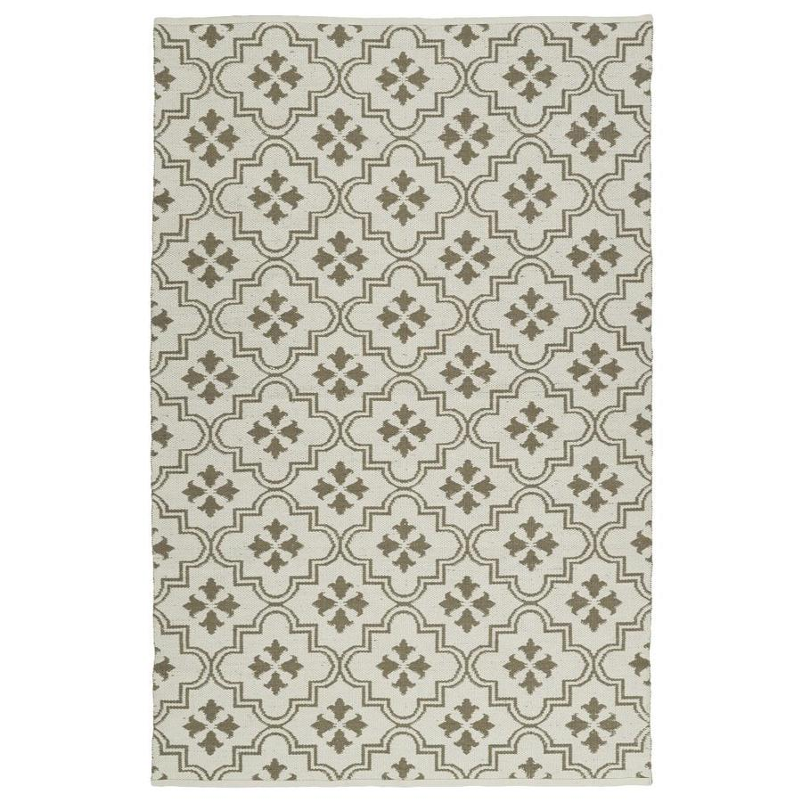 Kaleen Brisa Taupe Indoor/Outdoor Handcrafted Coastal Throw Rug (Common: 3 x 5; Actual: 3-ft W x 5-ft L)