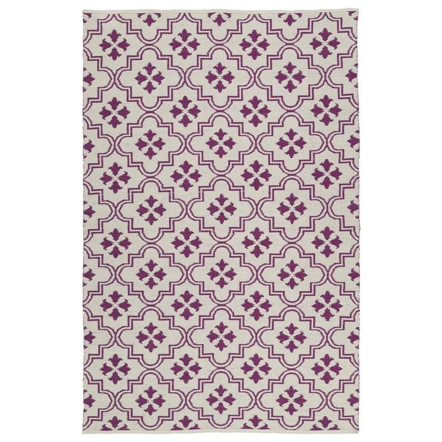 Kaleen Brisa Purple Rectangular Indoor/Outdoor Handcrafted Coastal Throw Rug (Common: 3 x 5; Actual: 3-ft W x 5-ft L)