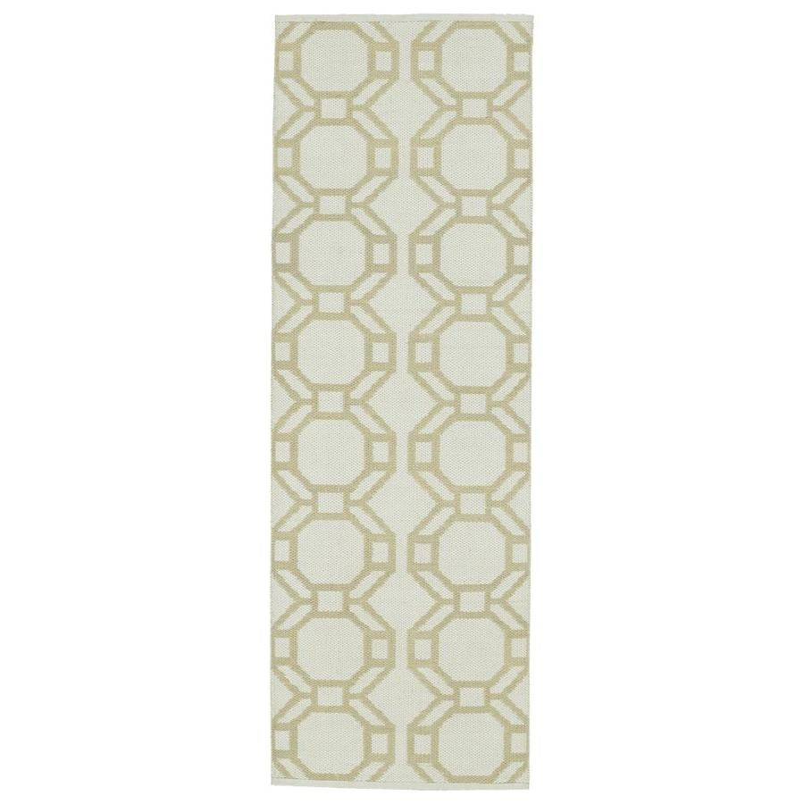 Kaleen Brisa Khaki Indoor/Outdoor Handcrafted Coastal Runner (Common: 2 x 6; Actual: 2-ft W x 6-ft L)