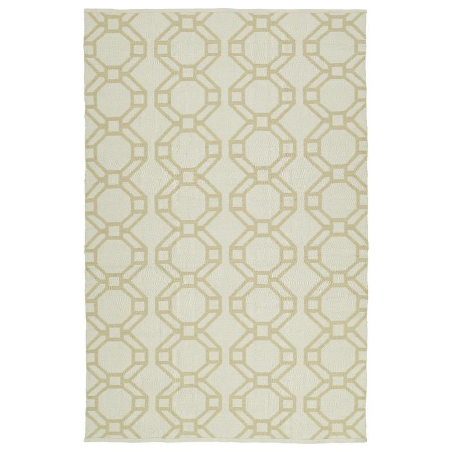 Kaleen Brisa Khaki Rectangular Indoor/Outdoor Handcrafted Coastal Throw Rug (Common: 3 x 5; Actual: 3-ft W x 5-ft L)