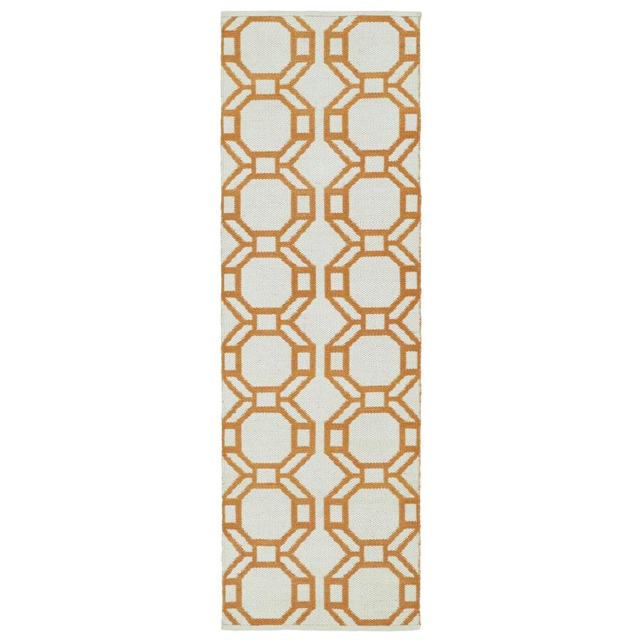 Kaleen Brisa Orange Indoor/Outdoor Handcrafted Coastal Runner (Common: 2 x 6; Actual: 2-ft W x 6-ft L)