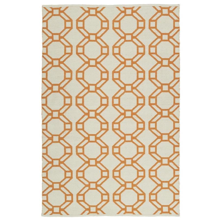 Kaleen Brisa Orange Rectangular Indoor/Outdoor Handcrafted Coastal Area Rug (Common: 8 x 10; Actual: 8-ft W x 10-ft L)