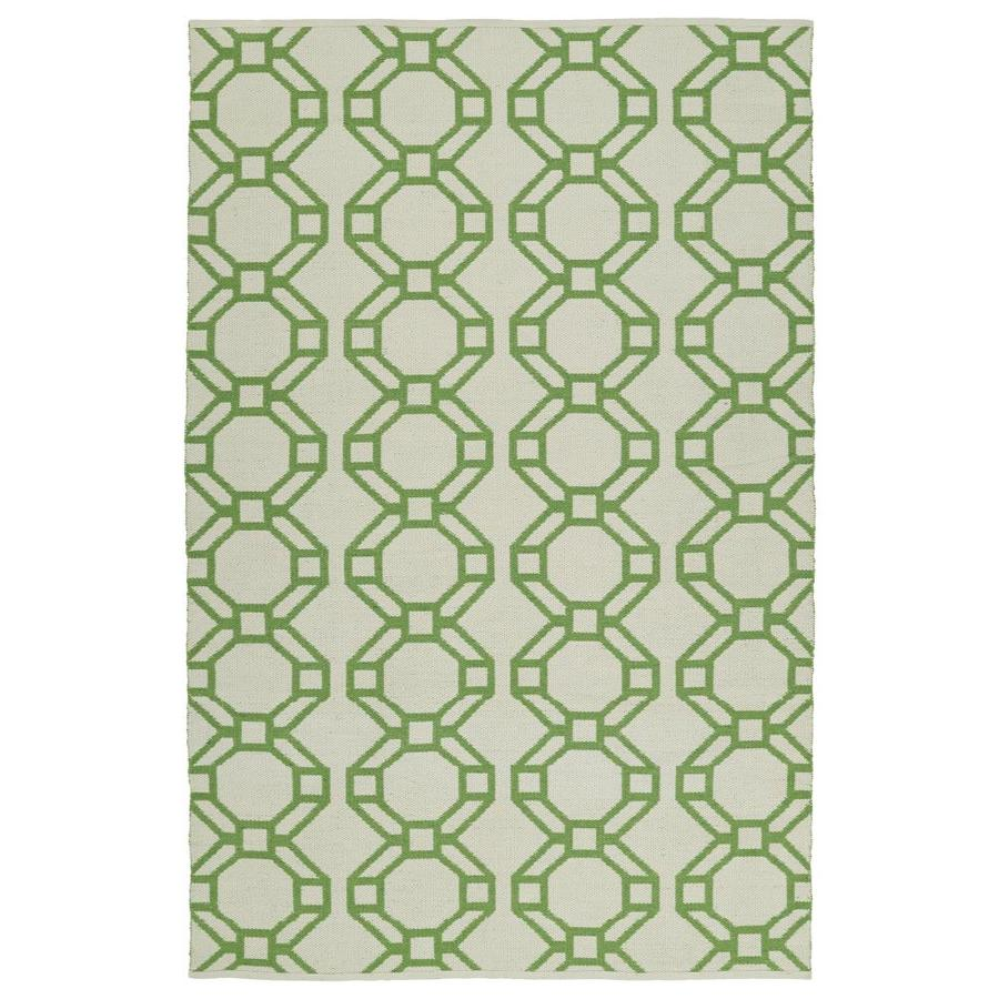 Kaleen Brisa Lime Green Indoor/Outdoor Handcrafted Coastal Area Rug (Common: 5 x 8; Actual: 5-ft W x 7.5-ft L)